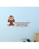 Remarkable Deals On Life Purpose Monkey Vinyl Wall Decal Zoomie Kids Size 20 H X 20 W