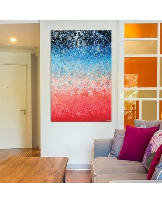 """East Urban Home Magical Wildfire Painting Print on Wrapped Canvas ESHM8490 Size: 18"""" H x 12"""" W x 1.5"""" D"""