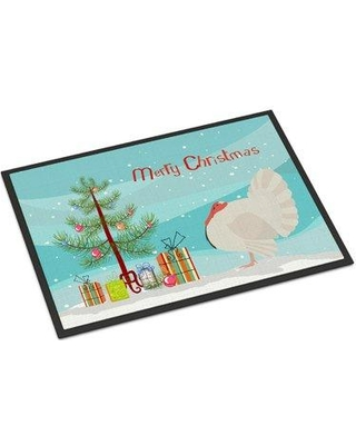 """The Holiday Aisle Wendy Holland Turkey Christmas Non-Slip Outdoor Door Mat HDAY2134 Mat Size: Rectangle 1'6 x 2'3"""""""