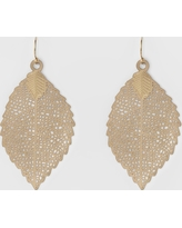 Women's Leaf Drop Earring - A New Day Gold