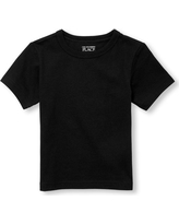 s Toddler Boys Short Sleeve Layering Tee - Black T-Shirt - The Children's Place