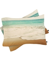 Bree Madden Ombre Beach Pillow Sham (Standard) Blue Ocean 1 pc - Deny Designs, Multicolored