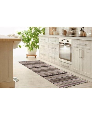 """Foundry Select Wentzville Triangle Kitchen Mat W000747411 Mat Size: Rectangle 2'6"""" x 8'"""
