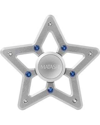 matashicrystal christmas tree star spinner with crystal shaped ornament mtsp3144 color chrome silver - Christmas Tree Spinner