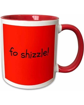 Symple Stuff Maisonet Fo Shizzle Lettering on Background Coffee Mug W000858182 Color: Red