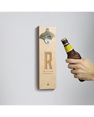 Personalized Wall Mounted Bottle Opener - Monogram Industrial // Gift for Him - Gift for Beer Lovers - Groomsman Gift