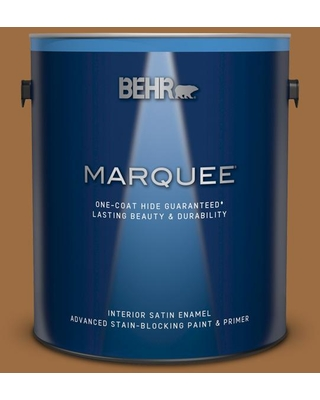 BEHR MARQUEE 1 gal. #S250-6 Desert Clay Satin Enamel Interior Paint and Primer in One