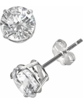 Renaissance Collection 10k White Gold 1 1/2-ct. T.W. Cubic Zirconia Stud Earrings - Made with Swarovski Zirconia, Women's, Yellow