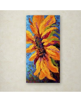 """Trademark Art 'Sunflower Solo II' Painting Print on Wrapped Canvas ALI15266-C Size: 24"""" H x 12"""" W"""