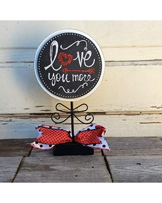 AGD Valentines Decor – Love You More Tabletop Sign