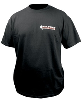 Allstar ALL99902YL Black Large Youth T-Shirt with Allstar Logo Front and Back