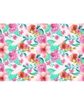 """Wrought Studio Dow Removable Vintage Floral Nursery 4.33' L x 75"""" W Peel and Stick Wallpaper Roll BF182961"""