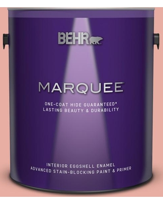 BEHR MARQUEE 1 gal. #180C-3 Rose Linen Eggshell Enamel Interior Paint and Primer in One