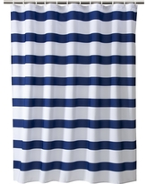 Rugby Stripe Shower Curtain White/Blue Cool - Room Essentials
