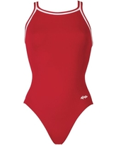 Dolfin Girls' Solid DBX Back Swimsuit, Size: 22, Red