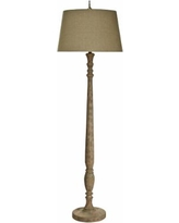 Natural Light July Jubilee Floor Lamp with Linen Shade