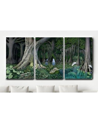 Millwood Pines 'Manatee Spring' Graphic Art Print Multi-Piece Image on Wrapped Canvas BF064511