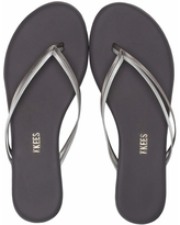 TKEES Flip-Flop-Duos (Silver Showers) Women's Toe Open Shoes