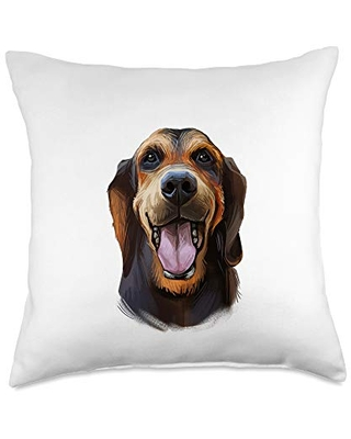 Majestic Tree Hound Throw Pillows & Gifts Majestic Tree Hound Dog Decorative Throw Pillow, 18x18, Multicolor