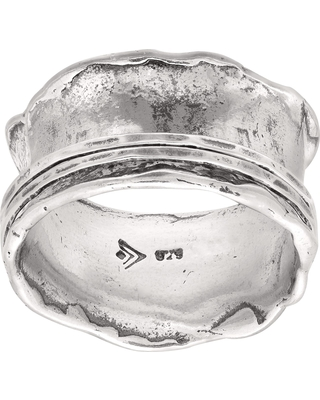 Silpada 'Wave Rider' Scalloped Spinner Ring in Sterling Silver