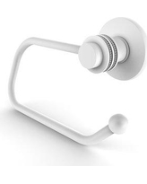 Allied Brass Mercury Wall Mounted Euro Tissue Holder with Dotted Detail 924ED Finish: Matte White