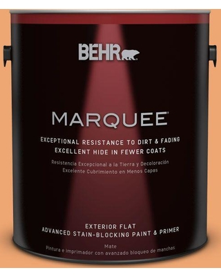 Special Prices On Behr Marquee 1 Gal Home Decorators Collection Hdc Sp16 04 Apricot Jam Flat Exterior Paint Primer