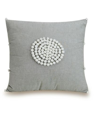 Jessica Simpson Coral Gables Square Throw Pillow in Grey