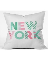 """East Urban Home Cool Summer In the City Polyester Throw Pillow EASU6664 Size: 18"""" H x 18"""" W x 5"""" D"""