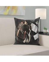 East Urban Home Backpack Throw Pillow W000353918