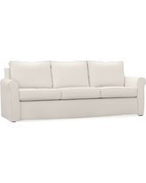 Cameron Roll Arm Slipcovered Grand Sofa, Polyester Wrapped Cushions, Performance everydaylinen(TM) Ivory