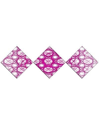 East Urban Home 'Pink Unusual Metal Grill' Graphic Art Print Multi-Piece Image on Canvas URBR1540