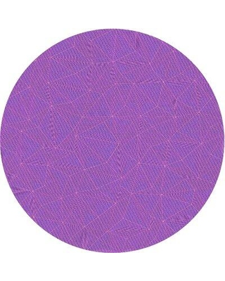 Wrought Studio Solid Color Wool Purple Area Rug X112397628 Rug Size: Round 5'