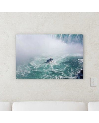 """Ebern Designs 'Waterfall (176)' Photographic Print on Canvas BF122221 Size: 12"""" H x 16"""" W x 2"""" D"""