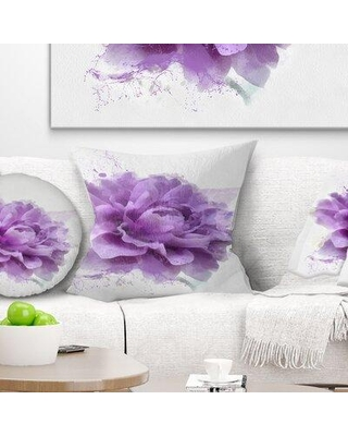 "East Urban Home Floral Rose Watercolor Illustration Pillow FUSI4128 Size: 18"" x 18"" Product Type: Throw Pillow"
