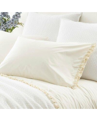 Pine Cone Hill Classic Ruffle 200 Thread Count 100% Cotton Pillowcase PEH10096 Color: Ivory Size: Standard
