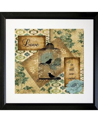 Buy Art For Less 'Love Is All We Need' Framed Graphic Art Print IAGE1203 Frame Color: Black
