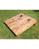 All American Tailgate 2' x 4' Stained Manufactured Wood Cornhole Board RW-SL-1000