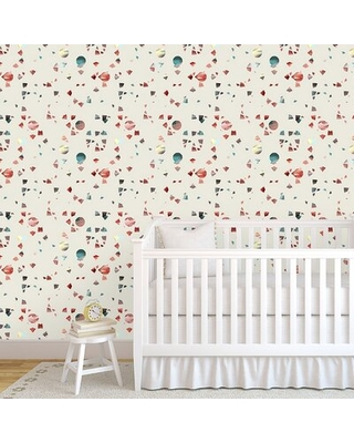 """Lenz 48"""" L x 24"""" W Paintable Peel and Stick Wallpaper Panel Wrought Studio™ Color: Ivory"""