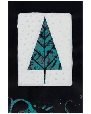 "Winston Porter 'Blue Tree on White' Acrylic Painting Print on Wrapped Canvas WNPO4983 Size: 32"" H x 22"" W x 2"" D"
