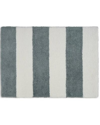 Calvin Klein Home Chicago Shag Area Rug in White & Grey - Nourison CK722
