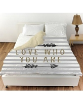 Oliver Gal Love Who You Are Arrows Duvet Cover 24236.DUVET__MF Size: Queen