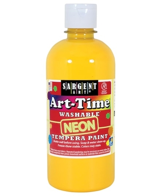 Sargent Art® Art Time® Washable® Neon Tempera Paint in Yellow   16 oz   Michaels®
