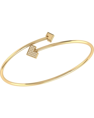 LMJ - One Way Bangle In 14 Kt Yellow Gold Vermeil On Sterling Silver