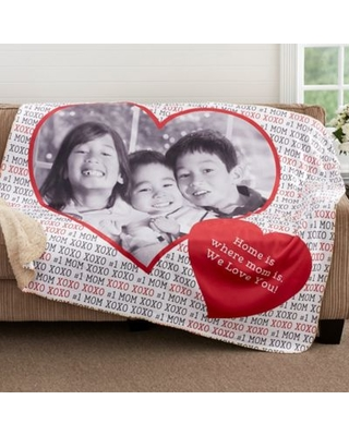 Love You This Much 60-Inch x 80-Inch Personalized Sherpa Blanket