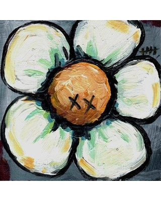 "Marmont Hill 'Xx Flower' by Tori Campisi Painting Print on Wrapped Canvas MH-TORI-71-C Size: 24"" H x 24"" W"
