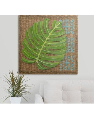"Great Big Canvas 'Block Print Palm I' Chariklia Zarris Graphic Art Print 1103067_1 Size: 30"" H x 30"" W x 1.5"" D Format: Canvas"