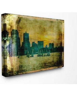 """Williston Forge 'Boston City Skyline Old Photograph' Graphic Art Print BF090805 Format: Wrapped Canvas Size: 16"""" H x 20"""" W x 1.5"""" D"""