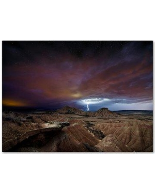 """Trademark Fine Art 'Storm' Photographic Print on Wrapped Canvas 1X01580-C Size: 18"""" H x 24"""" W"""