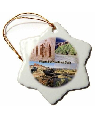 The Holiday Aisle Ancestral Colorado River Overlook and Pothole Point Views Snowflake Holiday Shaped Ornament X111403145