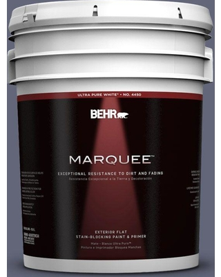 BEHR MARQUEE 5 gal. #630F-6 Violet Evening Flat Exterior Paint and Primer in One